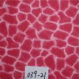 Cuero impreso del PVC para las sillas hechas en China (HS039#)