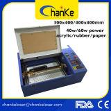 Máquina de papel plástica del laser del CO2 de madera 40W del sello de goma