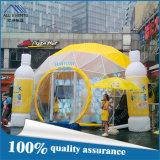 tente de dôme géodésique de couleur de jaune de diamètre de 8m
