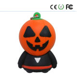 Halloween GiftのPromostional Customized PVC Material Halloween USB Flash Drive