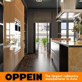 Keukenkasten van de Lak van de luxe de Donkere Gouden Houten met Eiland (OP16-L20)