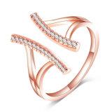 새로운 형식 유일한 CZ 다이아몬드 조정가능한 열리는 반지 (CRI1026가)