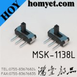 De 3pin do MERGULHO de corrediça do interruptor de /Side pés longos do interruptor de alavanca Two-Position do impulso (MSK-1138)