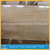 Mattonelle di pietra gialle arrugginite naturali della pavimentazione/parete del granito G682 (con i grani)