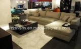 Muebles de cuero modernos italianos de la sala de estar del sofá