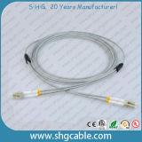 Cabo de correção de programa blindado frente e verso Multimode do cabo da fibra óptica de LC-LC