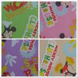tissu de polyester d'impression de 600d Oxford Mickey Mouse avec le PVC