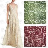 Ткань шнурка нового Spandex цветка прибытия мягкого Nylon французская для способа платья и повелительниц венчания