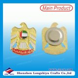 Fábrica de venta directa esmalte pin insignia con imán