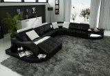 Sofà domestico moderno dell'angolo del salone del cuoio della mobilia