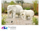 Высеканная рукой скульптура слона гранита камня природы для украшения