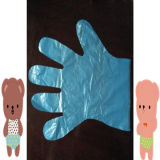 Neuer materieller Plastik-PET Handschuh mit L Größe