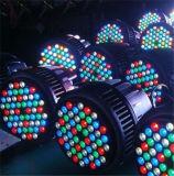 Waterdichte DMX LEIDEN van het theater 54X3w RGBW PARI 64 de Verlichting van DJ