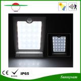 luz al aire libre solar del jardín de la pared del sensor LED de la carrocería 25LED