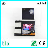 4,3 polegadas tela LCD Hard Cover Video Booklet