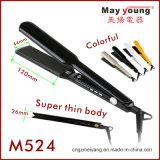 Straightener profissional colorido do cabelo do indicador de diodo emissor de luz do preço de fábrica