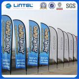 Pólo publicitário promocional da bandeira da bandeira da praia (LT-17C)