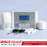 GSMの安全な機密保護の家のための住宅用警報装置、SMSの警報システム