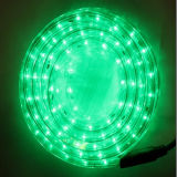 Corda horizontal do diodo emissor de luz do fio ao ar livre da decoração 2 do feriado Light-Green