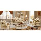 Sofà di cuoio di legno per la mobilia del salone (536)