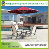 Parasol extérieur &#160 protégeant du vent intense ; Patio&#160 ; parapluie carré de jardin de 5X5m