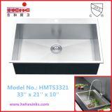 上の台紙単一ボールのハンドメイドの流しは、手作りする流し、台所の流し(HMTS3321)を