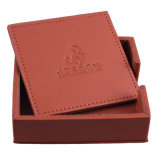 2015 Very High Quality Square Genuine Leather Coaster