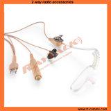 Écouteur acoustique trifilaire de tube pour la radio bi-directionnelle