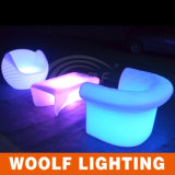 Hot Sales Outdoor Rechargeable Colorful Furniture Canapé simple à LED