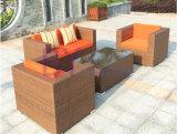 Sofa extérieur de rotin de PE de balcon de jardin de loisirs extérieurs en gros