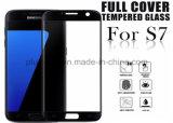 3D изогнуло протектор экрана Tempered стекла крышки полного цвета 0.33mm, котор 9h Анти--Царапают пленку экрана для Samsung S7