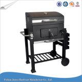 Grande griglia esterna quadrata del BBQ del carbone di legna del barbecue con le rotelle