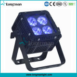 옥외 4X15W RGBW 편평한 동위 빛 LED 가벼운 Uplight