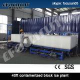 bloco de gelo 18t que faz a máquina no recipiente