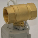 O mini motor de 1 polegada operou a válvula de esfera motorizada motorizada da mola retorno elétrico