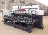 Маршрутизатор CNC 4 осей, деревянное высекая цена машины