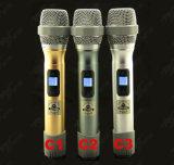 Microphone sans fil de guide touristique du système affichage à cristaux liquides de microphone