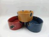 Ciotola lustrata di ceramica del gatto