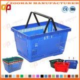 Panier à provisions en plastique des prix de constructeur de la Chine de supermarché bon marché d'OEM (Zhb109)