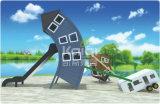Campo de jogos ao ar livre do PE de Kaiqi com caraterísticas especiais da cabana estranha, robô, pássaro, animal de mar para o planeamento total do parque