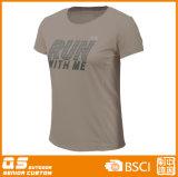 Camiseta de secado rápido de los deportes de las mujeres que se ejecuta
