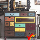 Fuzhou Wholesale Vintage Antique Home Furniture Gabinete de armazenamento de madeira usado