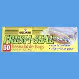 La bolsa de plástico reutilizable de la cerradura del cierre relámpago con la impresión de la insignia