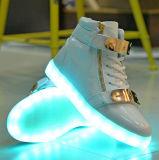 La DEL unisexe chausse des hommes, chaussures de course DEL d'hommes lumineux de l'espadrille