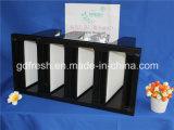 W-Tipo área da filtragem do banco de V filtro da alta qualidade do plissado HEPA da grande mini