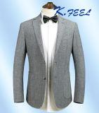남자를 위한 최신 판매 호리호리한 적합 모직 회색 우연한 블레이저 코트 그리고 재킷