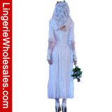 نساء متلفة أبيض [زومبي] ثوب [هلّووين] حزب شبح ظلّ عروس [كسبلي] زيّ