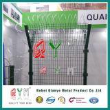 Barriera di sicurezza dell'aeroporto/rete fissa dell'aeroporto con il collegare del rasoio/rete fissa del bordo