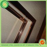 Construção que constrói o frame do espelho do aço 304 inoxidável para a decoração da porta