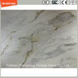 Stampa del Silkscreen di alta qualità 3-19mm/incissione all'acquaforte acida/reticolo del reticolo/glassato sicurezza temperato/vetro temperato per la parete/pavimento/divisorio della mobilia con SGCC/Ce&CCC&ISO